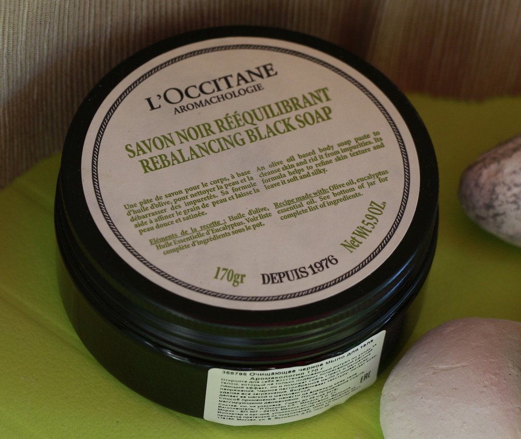 L'Occitane Aromachologie черное мыло