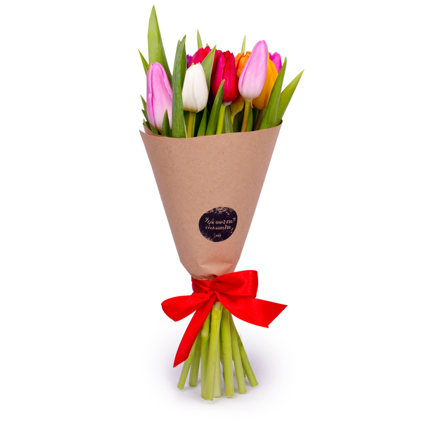 упаковка букета цветов