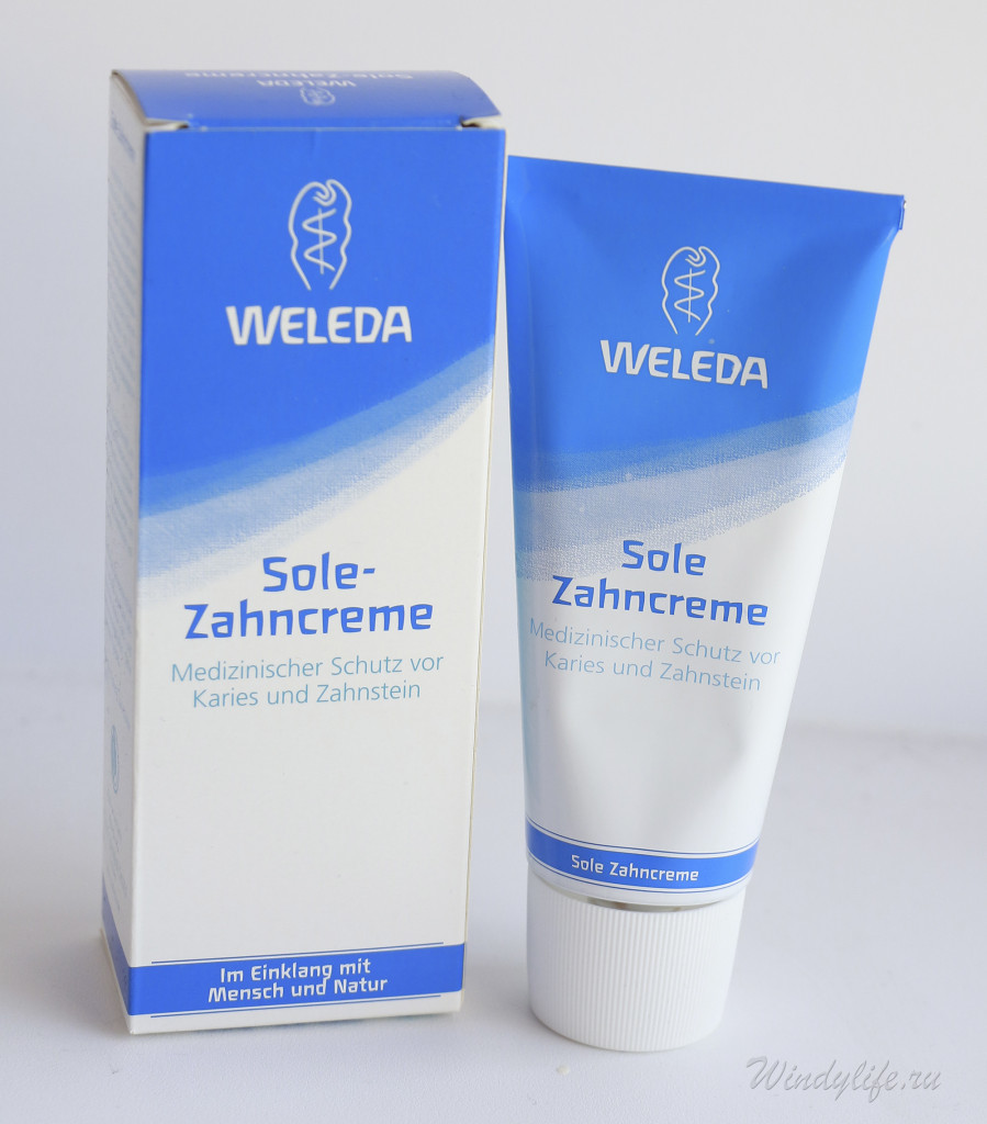 зубная паста Weleda Sole Zahncreme