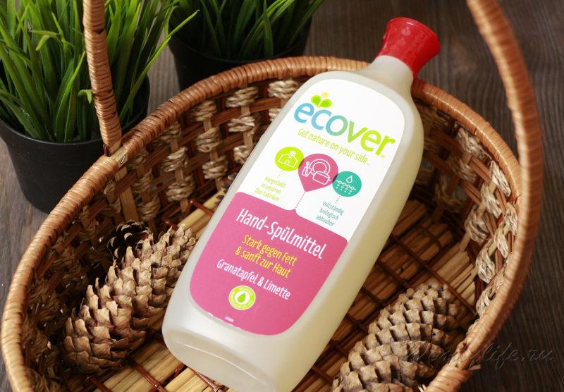 Экологическая жидкость для мытья посуды Ecover